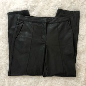 H&M Black Faux Vegan Leather Pants Sz 8